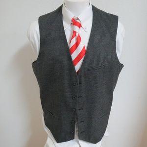 2XL Gray Plaid Apt.9 Mens Poly #D69 Suit Vest